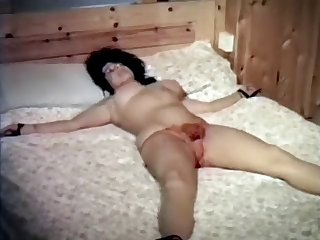 vintage 80's british hairy beauty tied down & groped