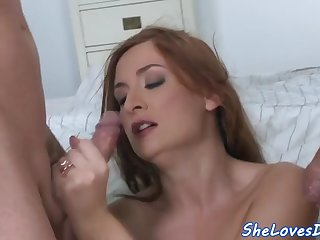 spitroasted euro babe blowing cock