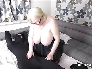 naughty mature wpc has her way with the burglar