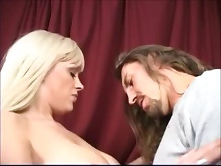 long haired man with a british blonde