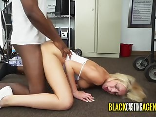 hot blondie loves sucking big black cocks and them fucked them in an interracial