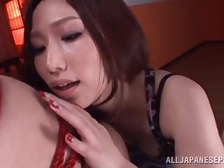 sayuki kanno plays and teases her man while tied to